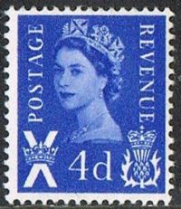 Scotland SG S2 1966 Definitive 4d mounted mint